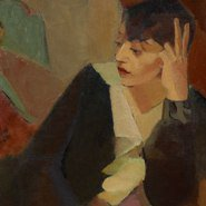 Image: Grace Crowley Portrait of Lucie Beynis 1929 (detail)