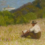 Image: Roland Wakelin Down the hills to Berry's Bay 1916 (detail)