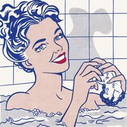 Image: Roy Lichtenstein Woman in bath 1963. Oil and magna on canvas 173.3 × 173.3cm Museo Thyssen-Bornemisza, Madrid © Roy Lichtenstein Foundation. Licensed by Viscopy, Sydney