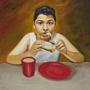 Image: Mario Sukkar Caught eating in the night (detail) Young Archie 2014 finalist, age 15, Granville NSW