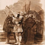 Image: Francisco de Goya For having Jewish ancestry c1808–14 (detail) drawing © The Trustees of the British Museum