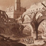 Image: Fernando Brambila and Juan Gálvez Ruins of the church of the general hospital in Zaragoza c1808–14 (detail) print