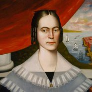 Image: Erastus Salisbury Field Portrait of a woman said to be Clarissa Gallond Cook, in front of a cityscape 1838 (detail), Terra Foundation for American Art, Daniel J Terra Art Acquisition Endowment Fund