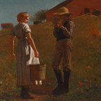 Image: Winslow Homer A temperance meeting 1874 (detail), Philadelphia Museum of Art, purchased with the John Howard McFadden Jr Fund, 1956