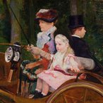 Image: Mary Cassatt A woman and a girl driving 1881 (detail), Philadelphia Museum of Art, purchased with the WP Wilstach Fund 1921