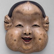 Image: Kyōgen mask Oto, Edo period, 18th century, National Noh Theatre