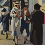 Image: Herbert Badham George Street, Sydney 1934 (detail), Laverty Collection, Sydney
