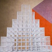 Image: Sol LeWitt Pyramid and Wall Drawing 604H (details) © Estate of Sol LeWitt. ARS, licensed by Viscopy