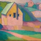 Image: Roland Wakelin Syncromy in orange major 1919 (detail), Bequest of Mervyn Horton 1983© Roland Wakelin Estate