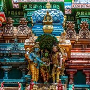 Meenakshi hindu temple in Madurai, Tamil Nadu, South India. Image courtesy of Shutterstock.com
