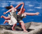 Deux femmes courant sur la plage (La course) (Two women running on the beach (The race)) 1922