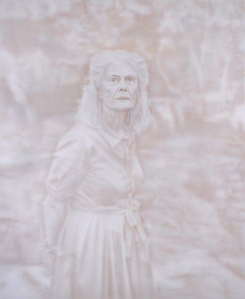'Penelope Seidler' - Medium: acrylic on canvas - Artist: Fiona Lowry