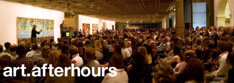 art after hours, every wednesday 5-9pm, art talks concert jazz films