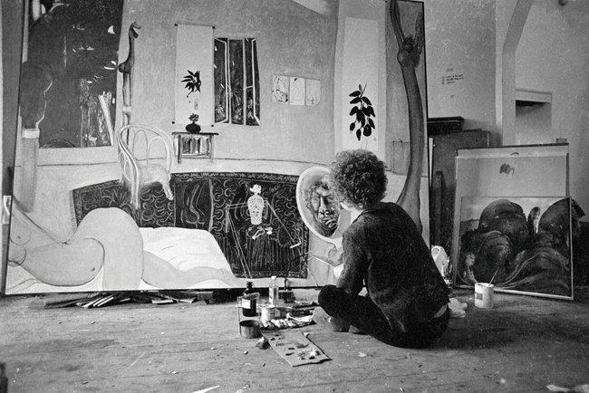 brett whiteley self portrait in the studio essays Foundation essays us whiteley: a seductive cinematic portrait of a serious artist brett whiteley with self portrait in studio 1976.