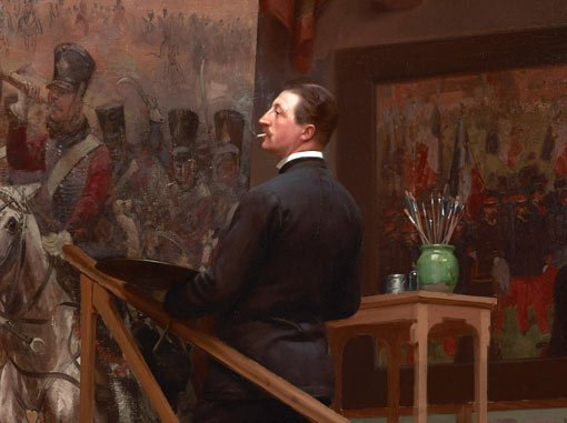 A painting of a painter painting a painting :: Art Gallery NSW