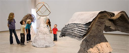Kids with Anselm Kiefer's Women of Antiquity