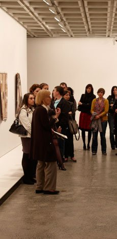 Visitors on a guided tour at the Gallery
