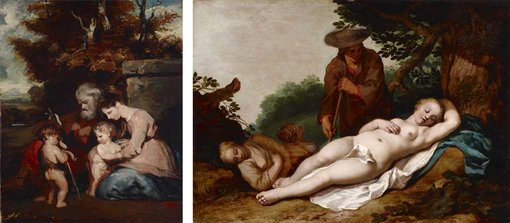 Joshua Reynolds, The Holy Family, and Abraham Bloemart, Cimon and Phigenia