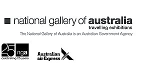 National Gallery of Australia and Australian Air Express logos
