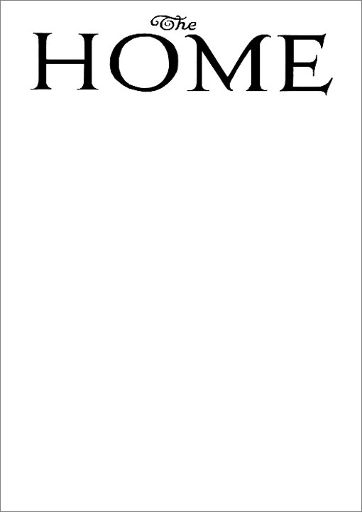 Masthead for The Home magazine
