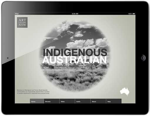Home screen of Indigenous Australian app