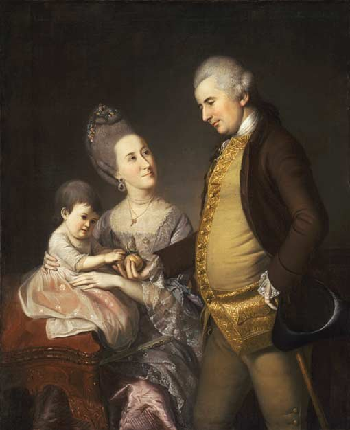 Charles Willson Peale, Portrait of John and Elizabeth Lloyd Cadwalader and their daughter Anne 1772