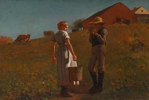 Winslow Homer, A temperance meeting, 1874