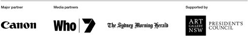 Major partner Canon. Media partners Who, 7, Sydney Morning Herald. Supported by Presidents Council