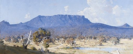 Arthur Streeton Land of the Golden Fleece 1926 (detail), private collection, Sydney