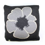 Daisy Charcoal Wool Cushion Cover,  - $130.00