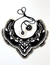 Margarita Necklace : Black and White,  - $138.00