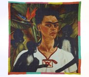 Self-Portrait with Monkeys Frida Kahlo Wool Scarf, Frida Kahlo - $145.00