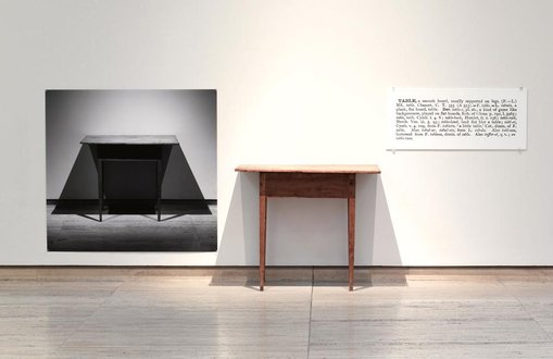 Joseph Kosuth One and three tables 1965