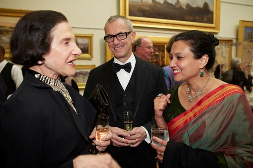 Art Gallery Society gala dinner, 27 July 2013  	Left to right: Governor of NSW, Her Excellency Professor Marie Bashir AC, CVO; Dr Michael Brand, Director, Art Gallery of NSW; Suhanya Raffel, Director of Collections, Art Gallery of NSW