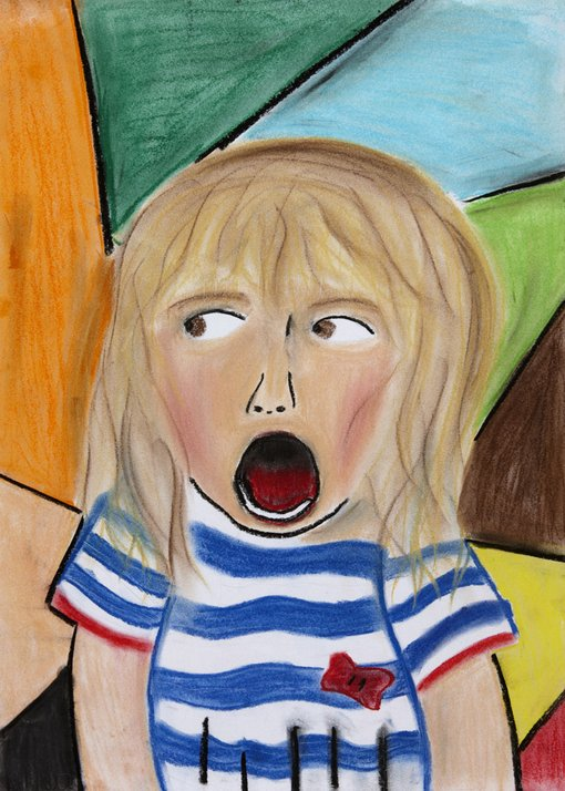 WinnerMax FontaineAge 13 Coogee NSW  	I picked my sister Lila, who is three. She is fun and I have lots of photos of her. Here she is actually laughing more in the photo but when I drew her it looks like she is more surprised. I liked most of all drawing her nut brown hair.