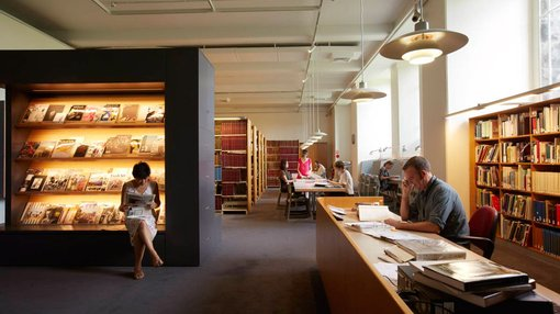 a view inside Research library and archive