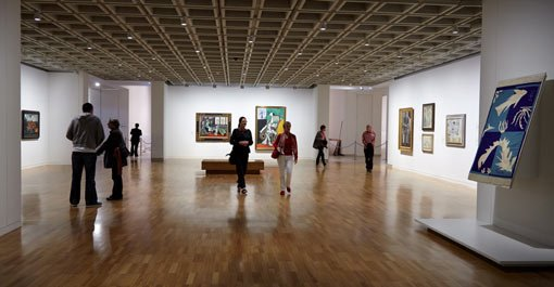 a view inside Modern gallery