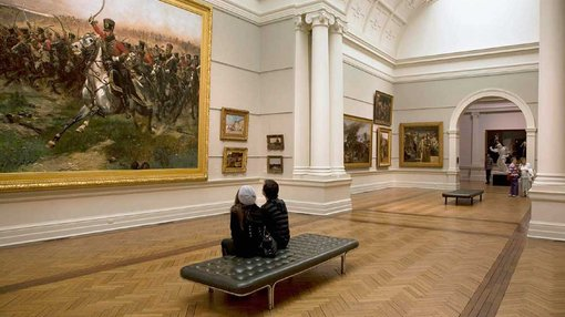 a view inside 19th & 20th c European art