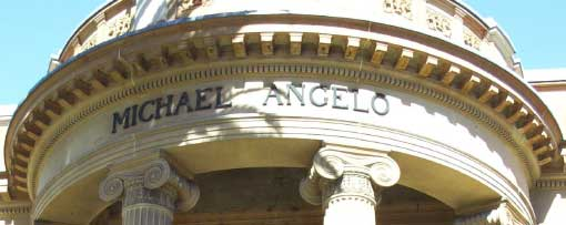 The name 'Michael Angelo' at the front of the Gallery
